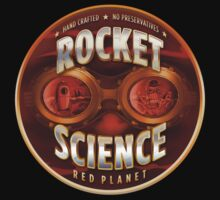 Rocket Science Red Planet T-Shirt by DennisBeerCo