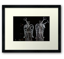 Angels in the night city Framed Print