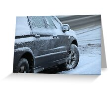 snow car Greeting Card