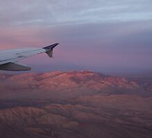 Flying Over the Mojave Desert at Sunrise by Georgia Mizuleva
