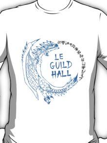 Monster Hunter Le Guild Hall-White Reusu T-Shirt