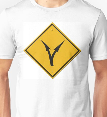 Fork in the road - decisions ahead. (USA - sign) Unisex T-Shirt