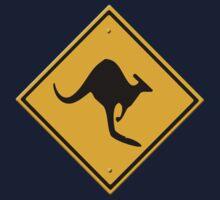 Road sign - Kangaroos ahead Kids Clothes