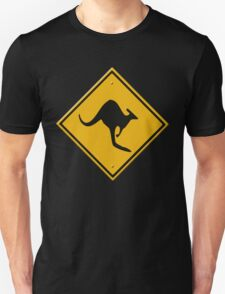 Road sign - Kangaroos ahead Unisex T-Shirt
