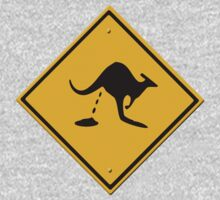 Road sign - warning kangaroo shit One Piece - Short Sleeve