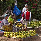 Arusha roadside fruit sellers by Philip Alexander