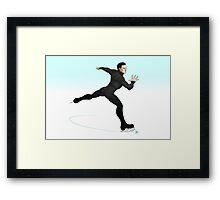 Khan on ice! Framed Print