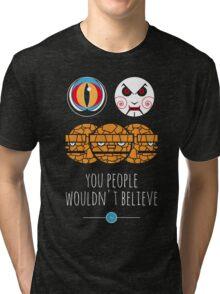 Like geeks in the rain Tri-blend T-Shirt