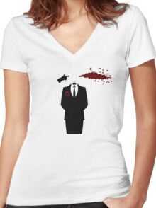 Don't Lose Your Head Women's Fitted V-Neck T-Shirt