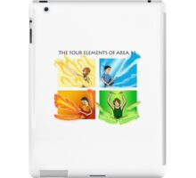 The Four Elements of Area 11 - Black text iPad Case/Skin