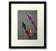 Vintage Clown Acrobat Circus Doll Toy Framed Print