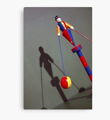 Vintage Clown Acrobat Circus Doll Toy Canvas Print