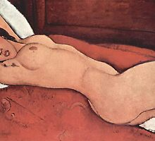 Nude Painting by Amedeo Modigliani by TilenHrovatic