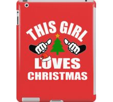 This Girl Loves Christmas iPad Case/Skin