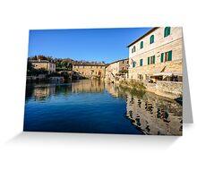 Etruscan Baths, Bagno Vignoni, Tuscany, Italy Greeting Card