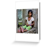 Temple child Greeting Card