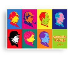 The many faces of Sherlock Holmes Canvas Print