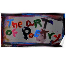 the art of poetry Poster