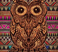 Cute Owl Aztec by Electraa
