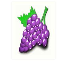 Purple Grapes Poster Art Print