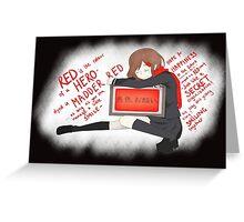 Ayano Takane (Lyrics) Greeting Card