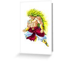 Broly saiyan 3 Greeting Card