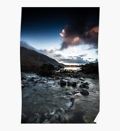 Wastwater and the screes from Overbeck bridge Poster