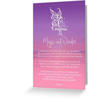 Affirmation - Magic and Wonder Greeting Card