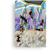 360 by a 6 year old pro scotter Canvas Print