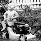 Lawn Mower Baby by Melanie Coleman
