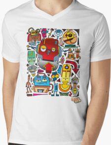 CRAZY DOODLE Mens V-Neck T-Shirt