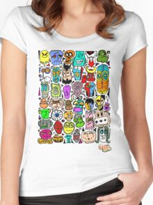 CRAZY DOODLE 2 Women's Fitted Scoop T-Shirt