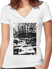 RUSH HOUR Women's Fitted V-Neck T-Shirt