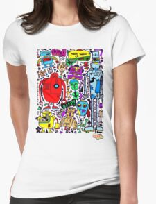 CRAZY DOODLE 3 Womens Fitted T-Shirt