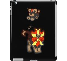 Litleo and Pyroar Distressed  iPad Case/Skin