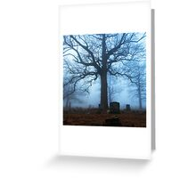 One Tree, Cemetery Study Greeting Card