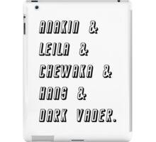 Star Wars Friends T-shirt iPad Case/Skin
