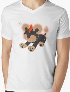 Litleo Distressed  Mens V-Neck T-Shirt