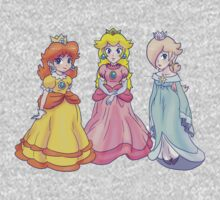 Princess Peach, Rosalina and Princess Daisy Kids Tee