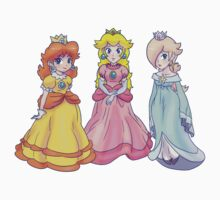 Princess Peach, Rosalina and Princess Daisy Baby Tee