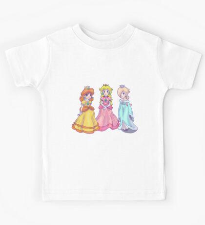 Princess Peach, Rosalina and Princess Daisy Kids Tee