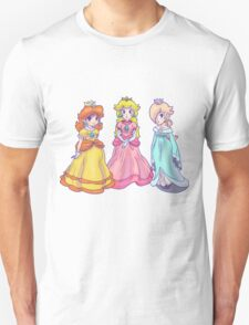 Princess Peach, Rosalina and Princess Daisy Unisex T-Shirt