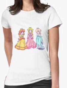 Princess Peach, Rosalina and Princess Daisy Womens Fitted T-Shirt