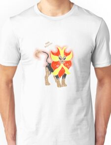 Pyroar Distressed Unisex T-Shirt