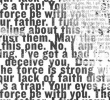 Death Star Quotes T-Shirt Sticker