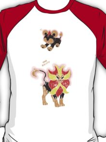 Litleo and Pyroar Distressed  T-Shirt