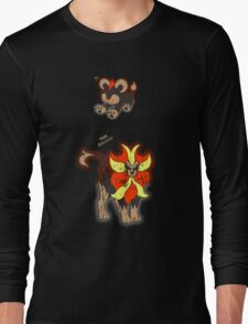 Litleo and Pyroar Distressed  Long Sleeve T-Shirt