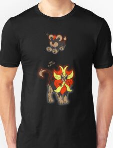Litleo and Pyroar Distressed  Unisex T-Shirt