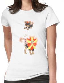 Litleo and Pyroar Distressed  Womens Fitted T-Shirt