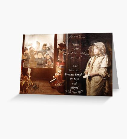 Christmas letter Greeting Card